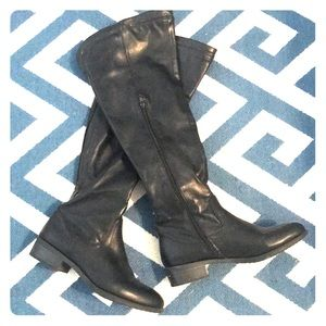 Shoes - Black, above the knee boots